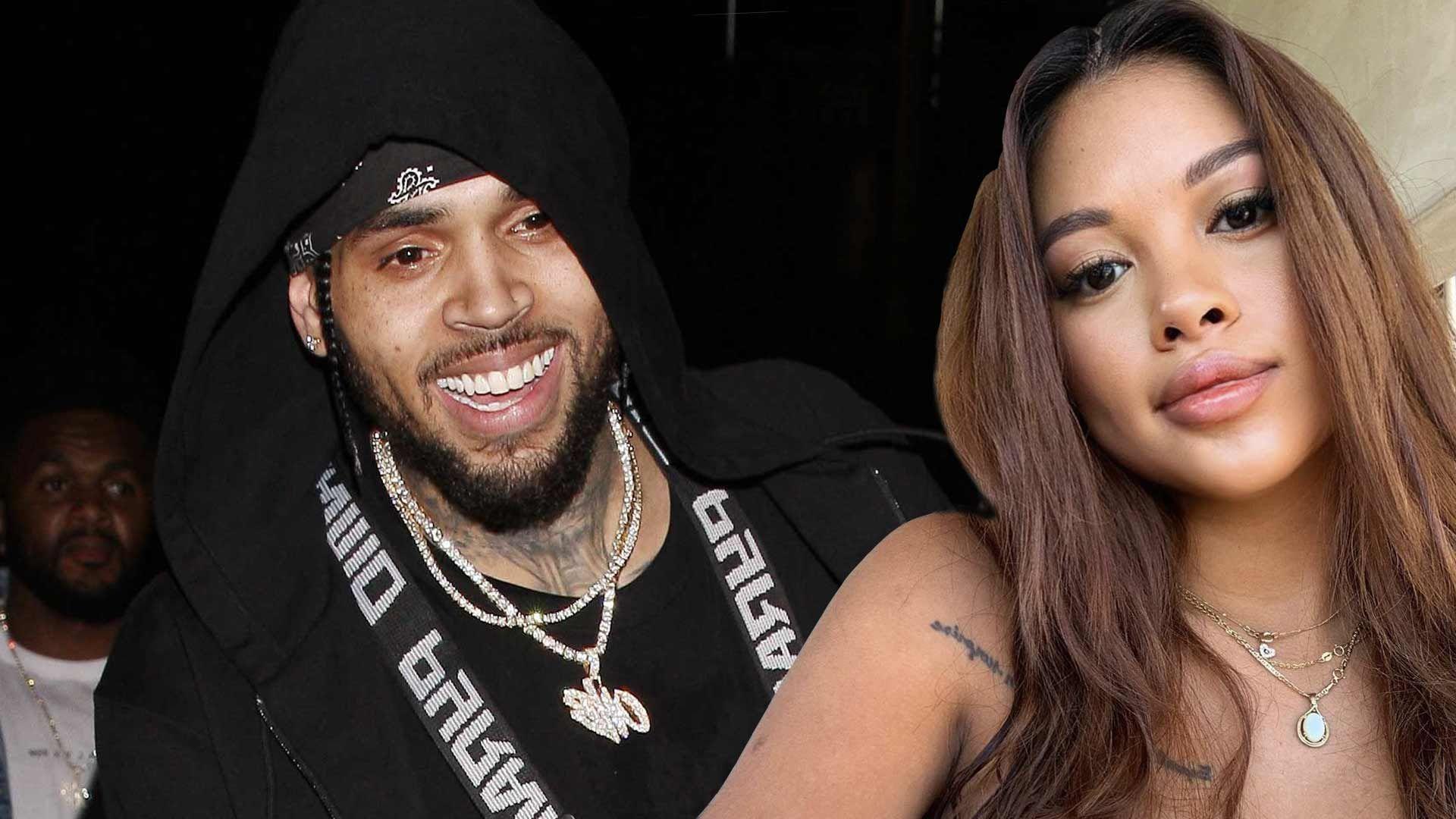 Ammika Harris and Chris Brown