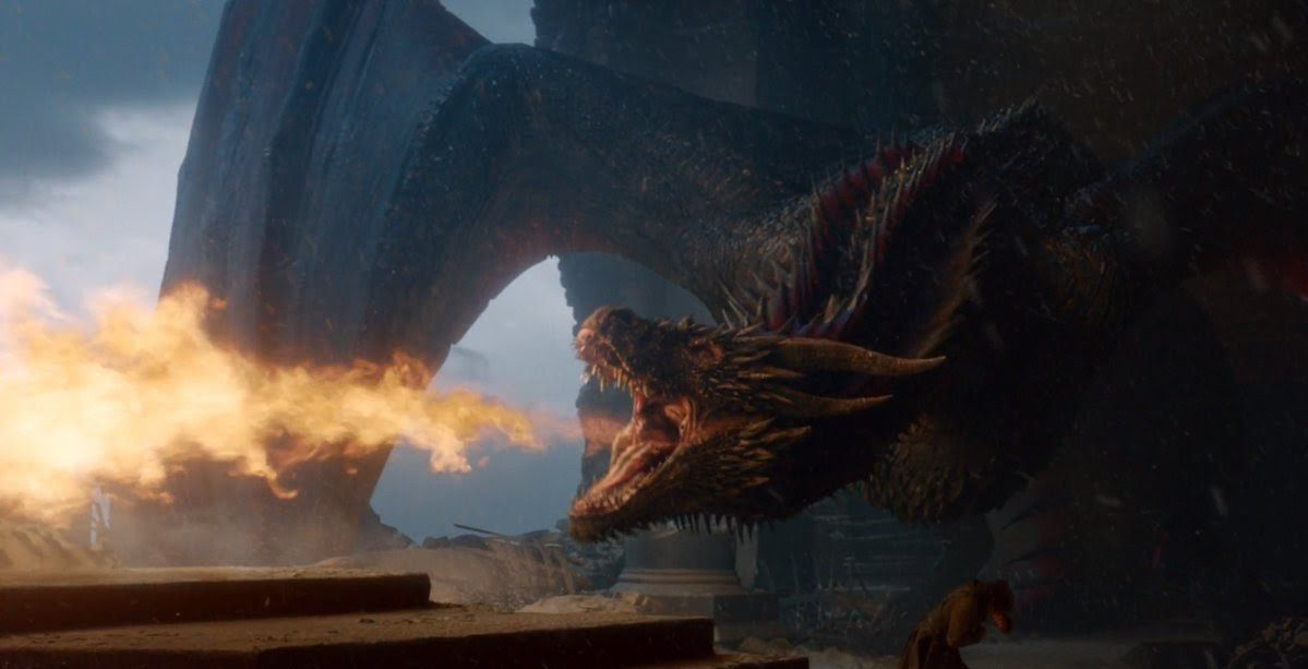 Drogon in Game of thrones finale