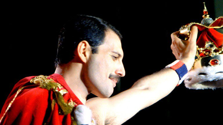 Freddie Mercury, when he was in Queen