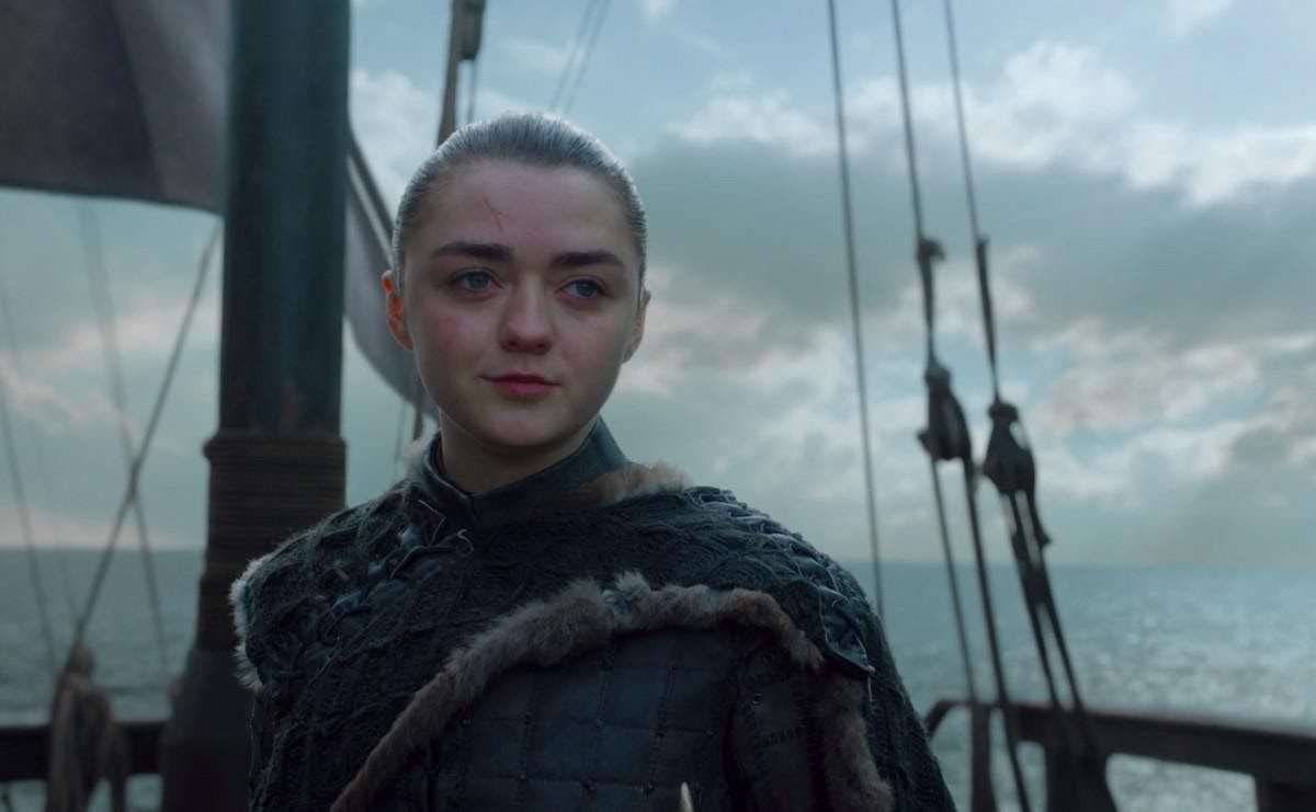 What happens to Arya in game of thrones ending