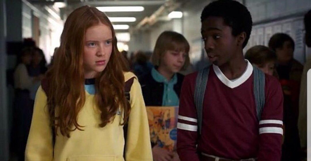 Lucas And Max (A still from Stranger Things)