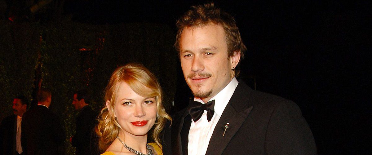 Heath with Michelle Williams, the mother of his daughter (Getty)