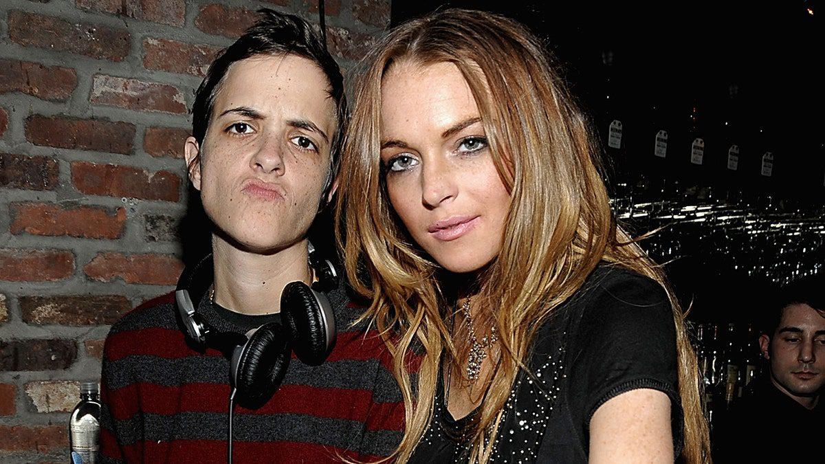 ex-girlfriends Samantha Ronson and Lindsay Lohan