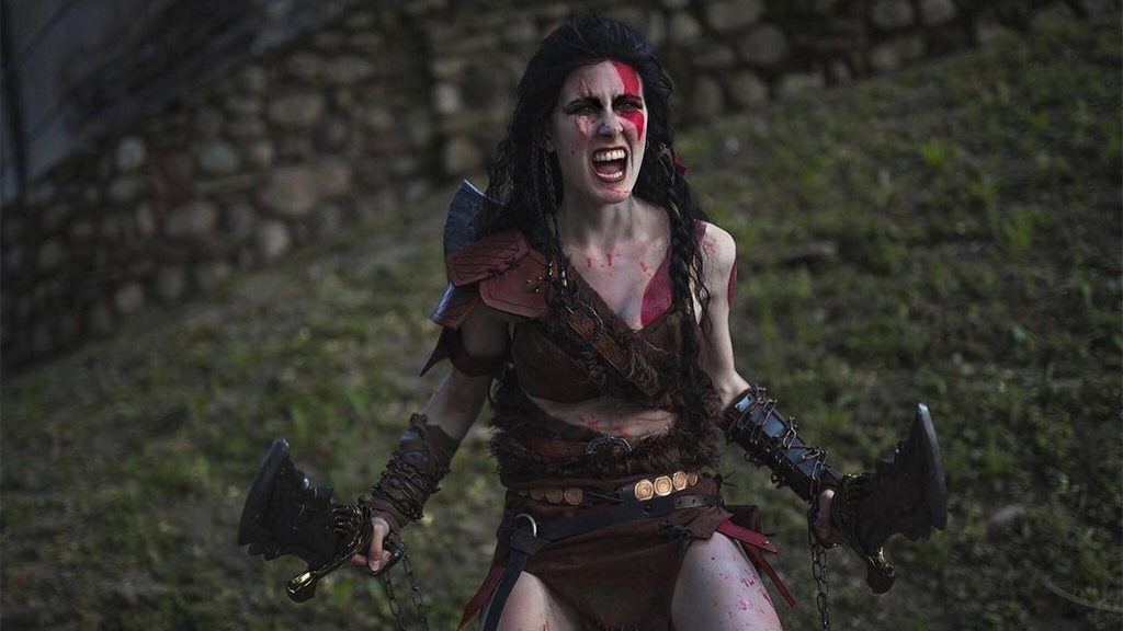 Justine Jey's Kratos Cosplay.
