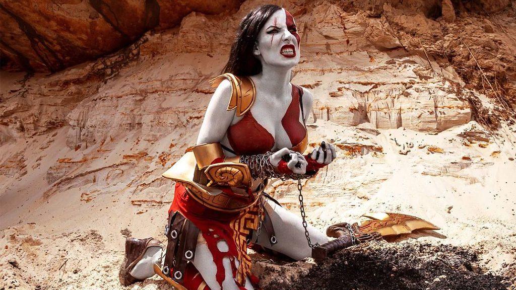 Karlenkova Natalia's Kratos Cosplay.