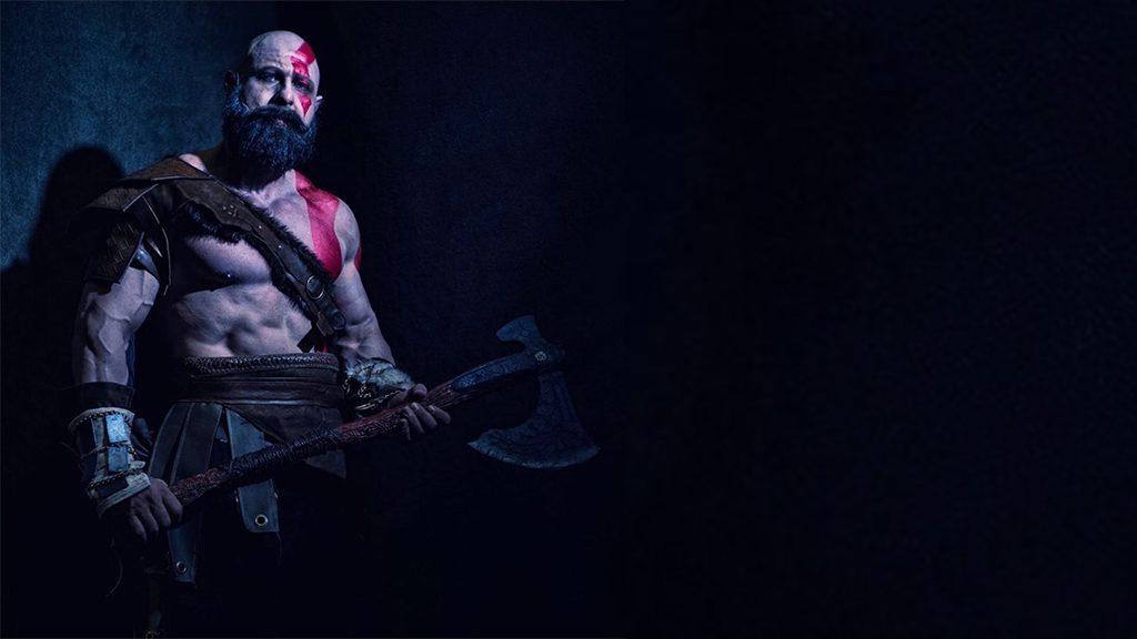 Brain J Cooper's Kratos Cosplay