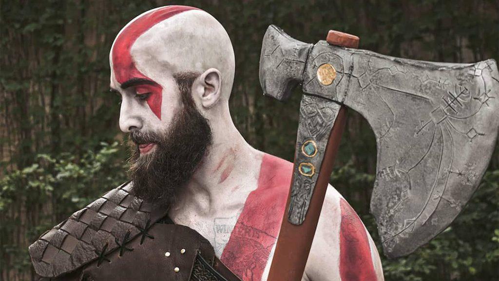 Sean Bane's Kratos Cosplay.