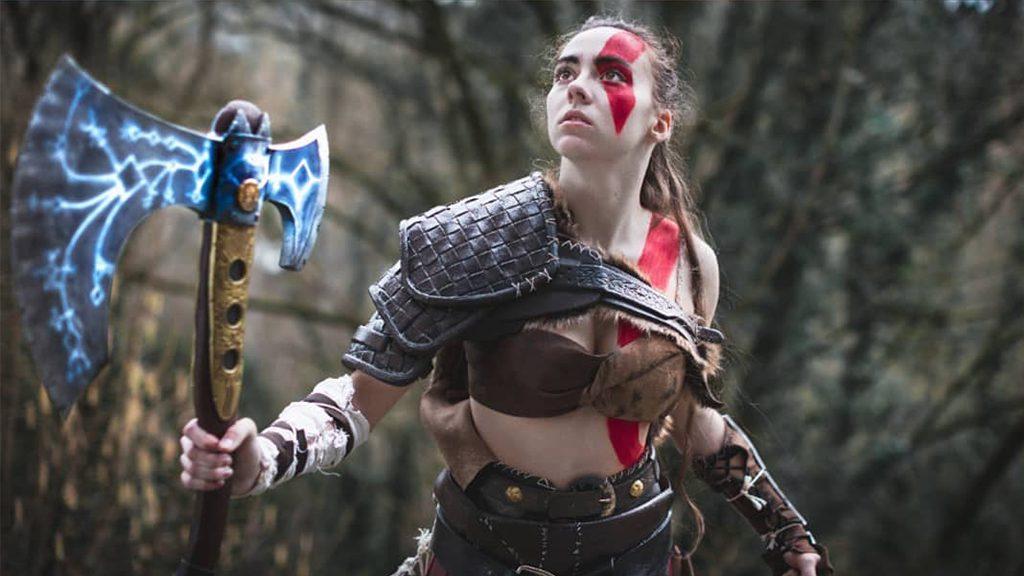 Nayoa Création's Innocent Lady Kratos cosplay.