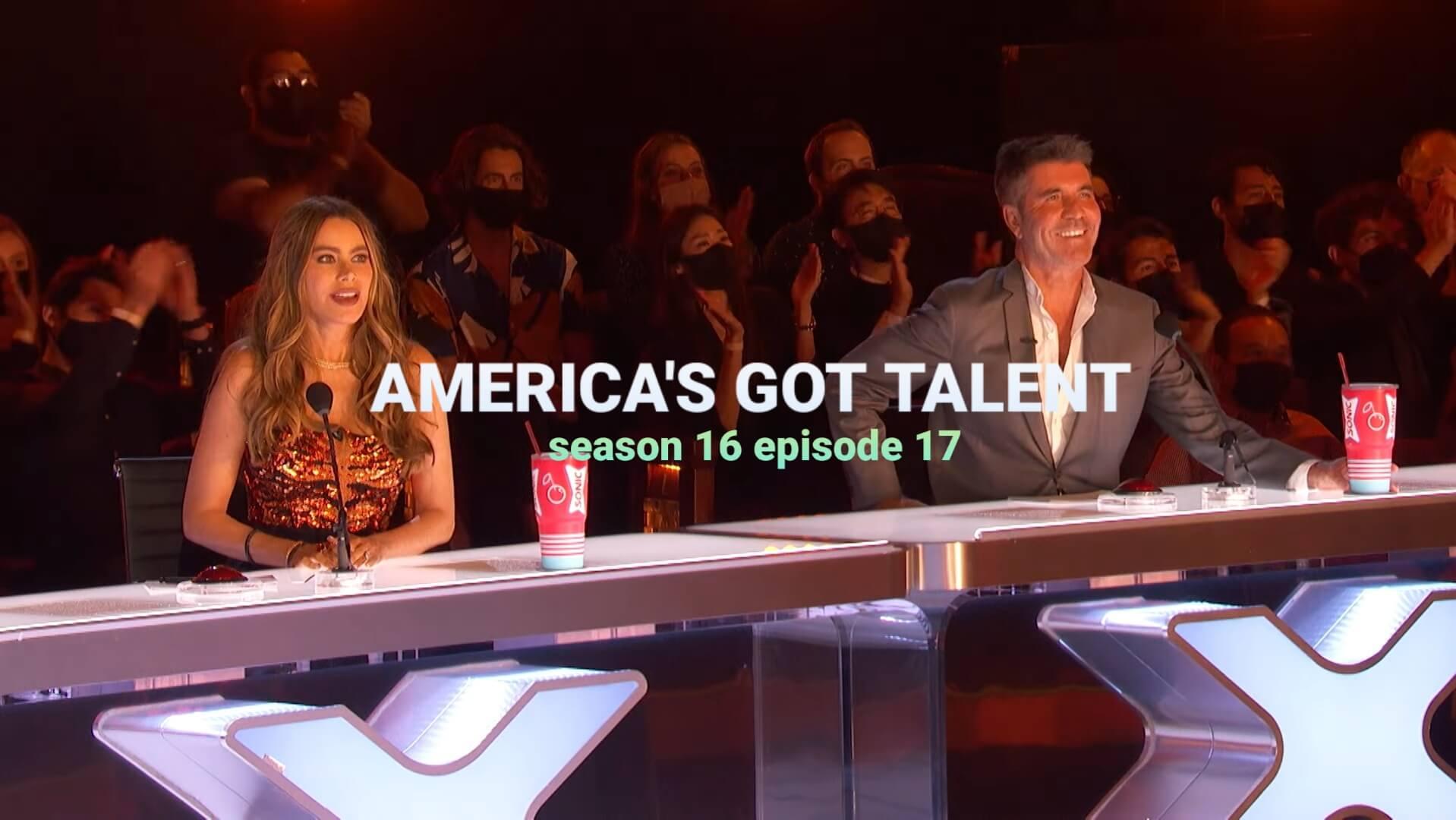 America's Got Talent episode 17 season 16 Release date