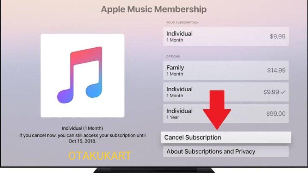 Apple music unsubscribe through app