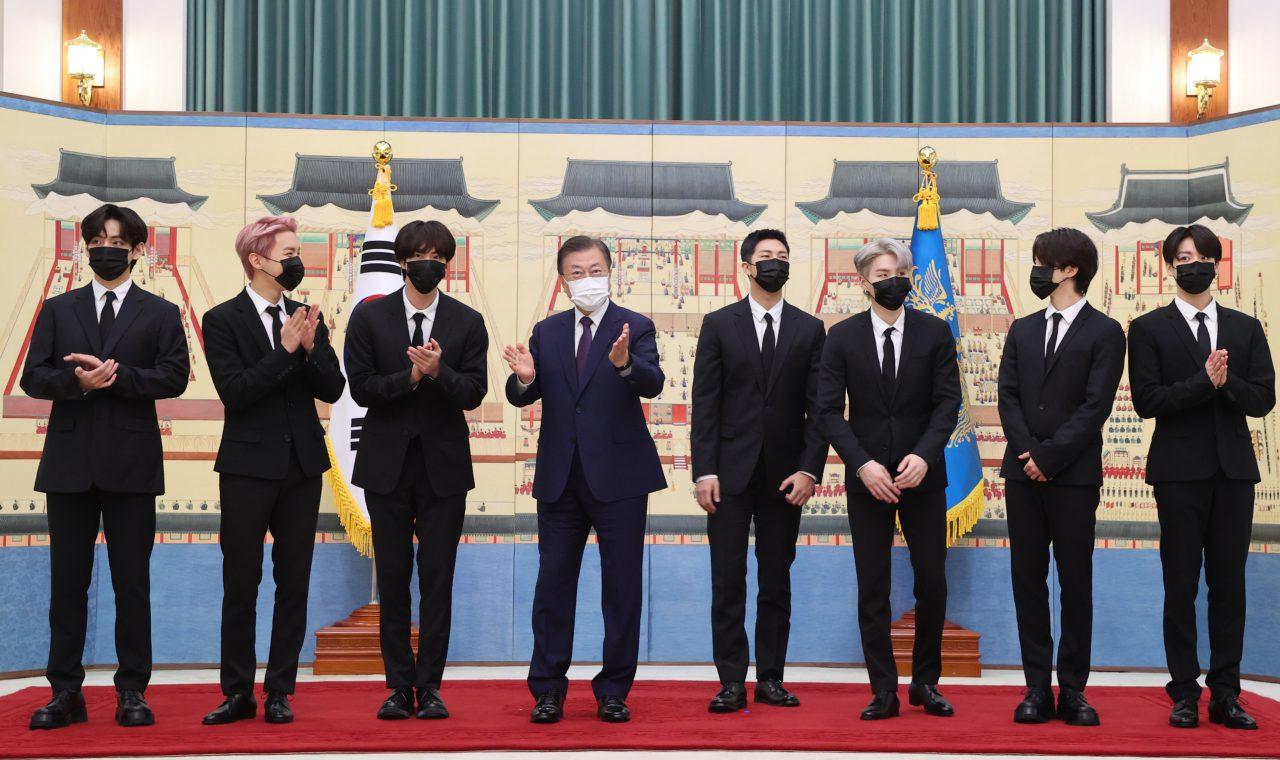 BTS visits President Moon Jae In