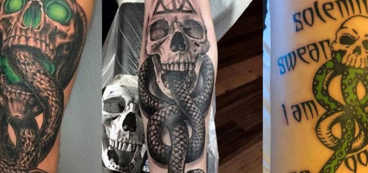 Best Death Eater Tattoo Ideas From Harry Potter --