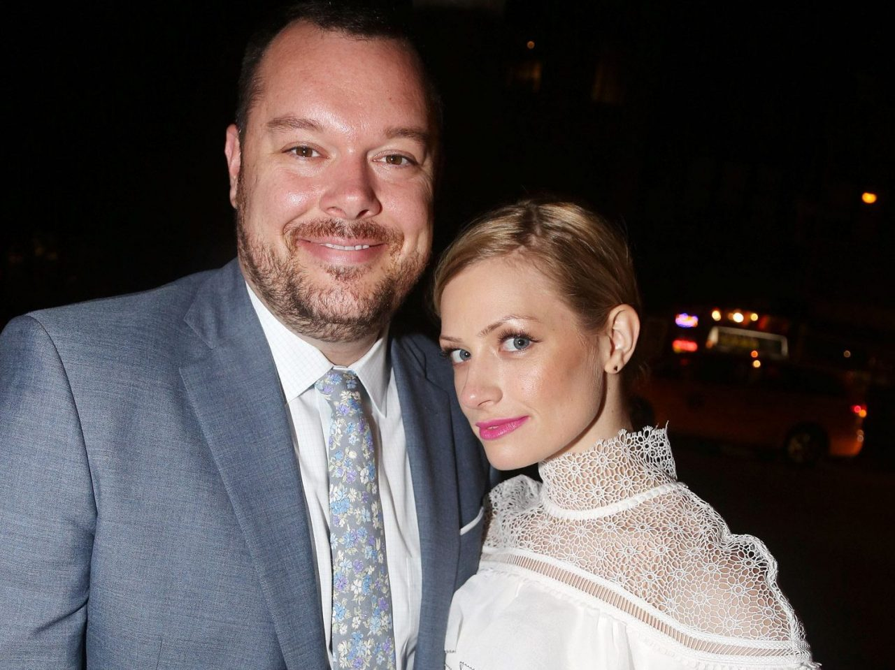 Beth Behrs with husband Michael Gladis
