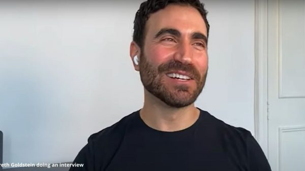Breth Goldstein doing an interview
