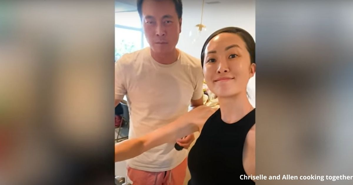 Chriselle and Allen cooking together