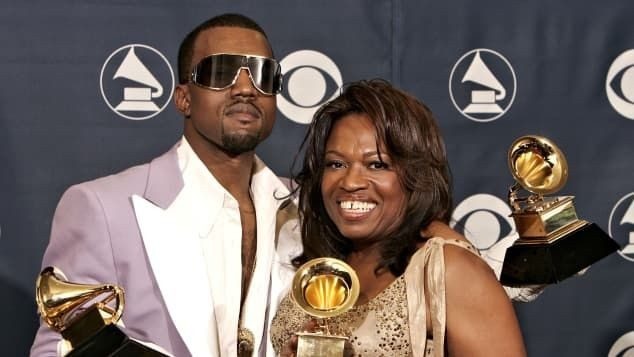 Kanye with his mom - Donda West