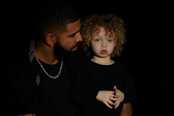 Drake with his son Adonis