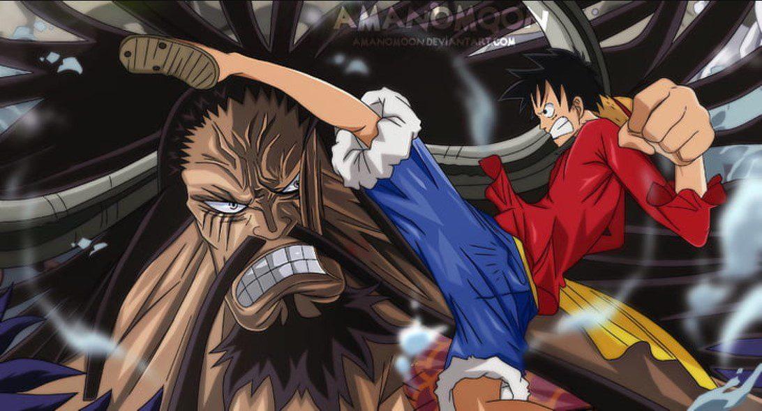 Luffy and Kaidou fan art