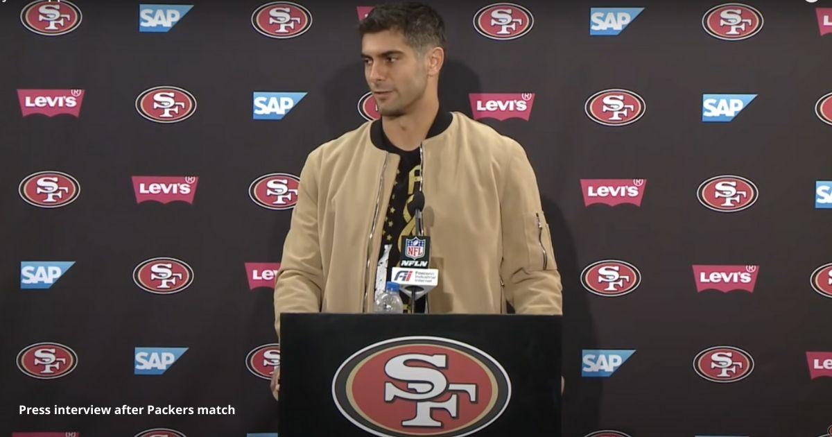 Press interview after Packers match
