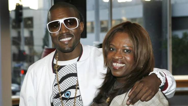 Kanye west with his mom Donda