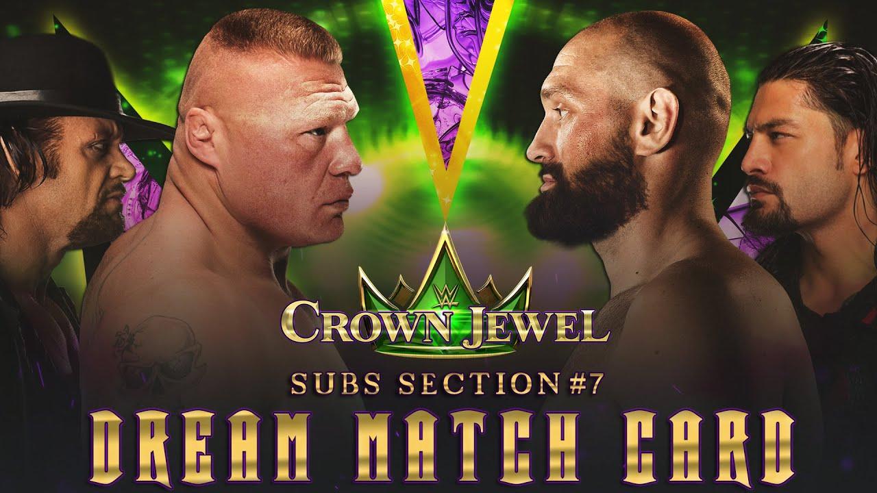 WWE Crown Jewel 2020 Game Card
