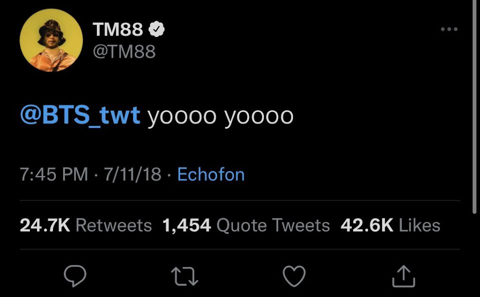 BTS and TM88 collab