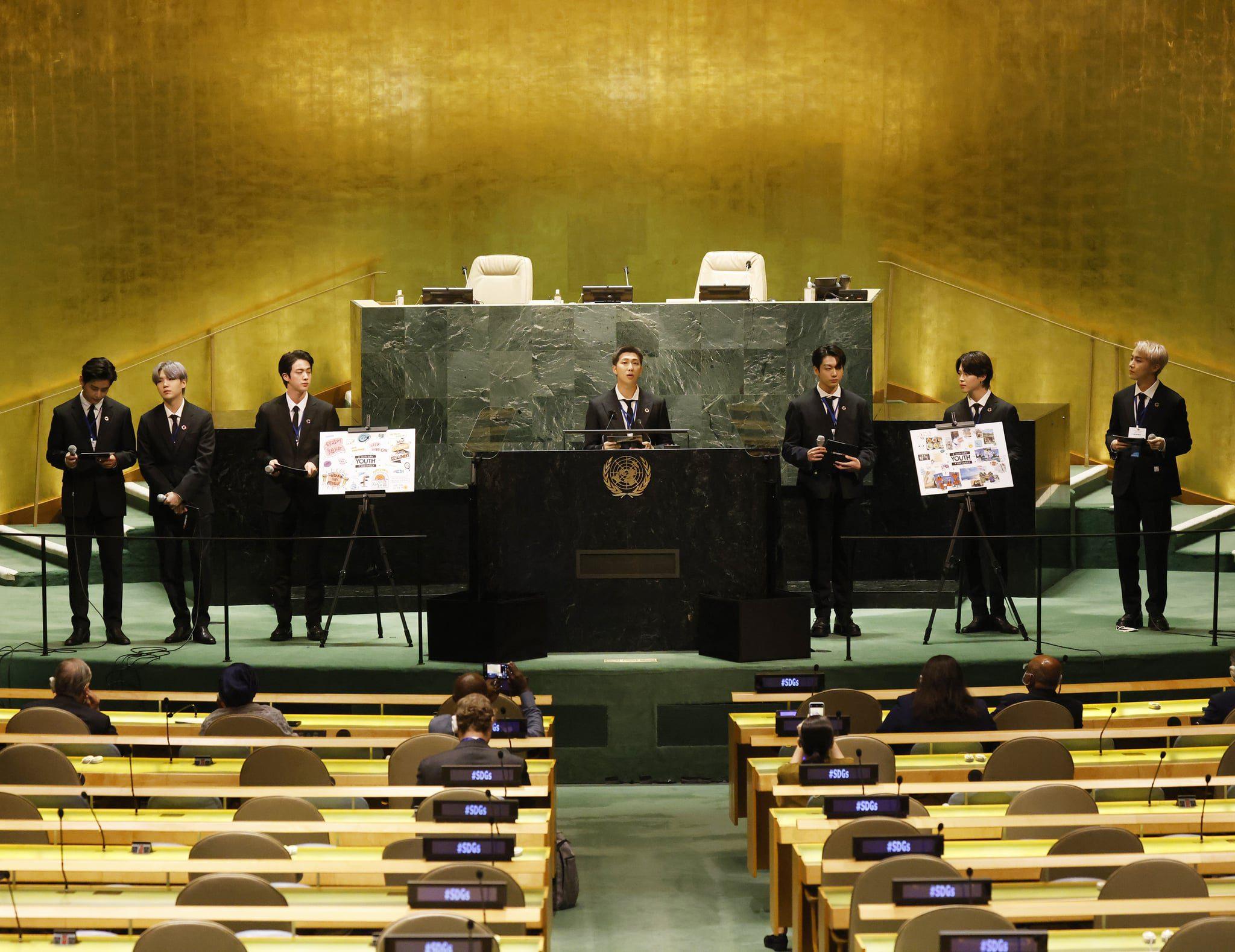 BTS at UN General Assembly 2021 SDG Moment