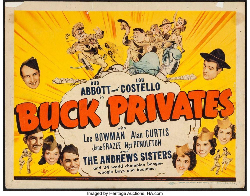 Where was Buck Privates filmed?