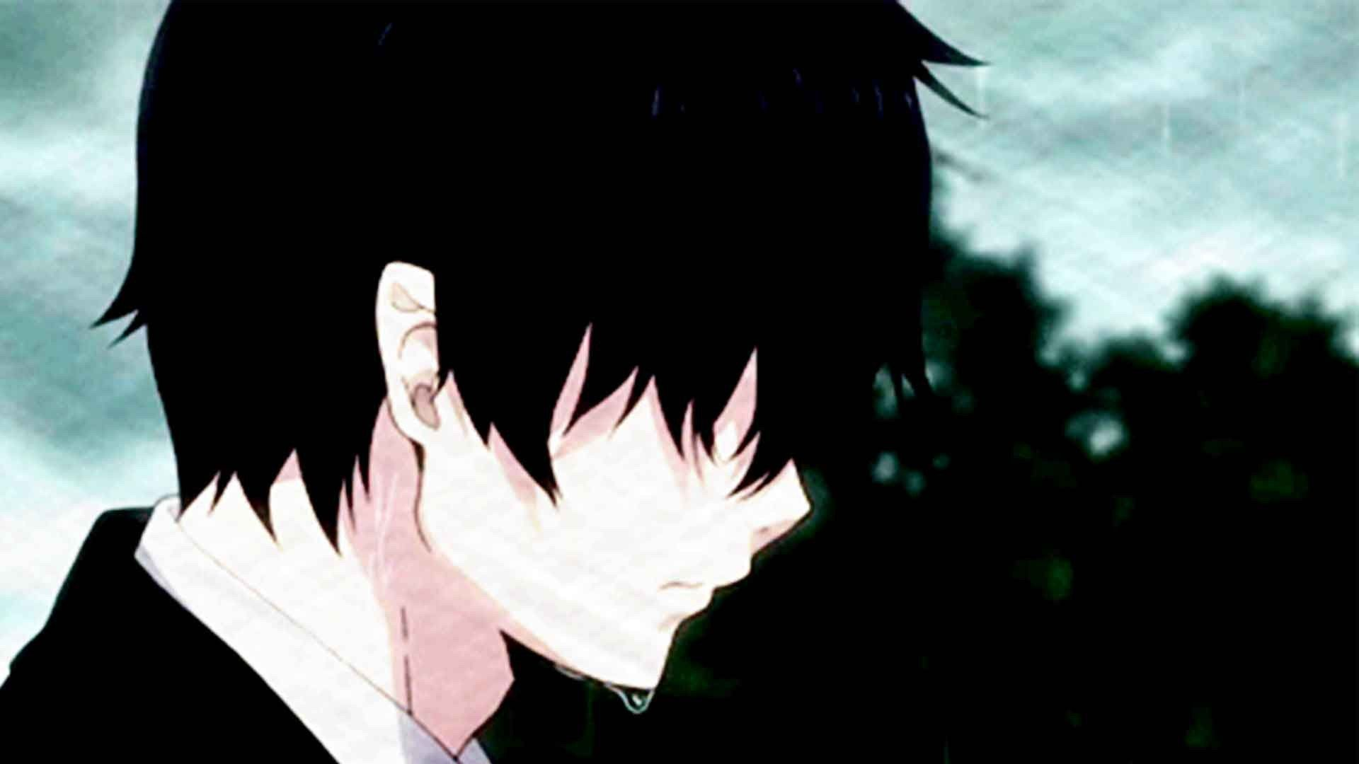 depressed anime character