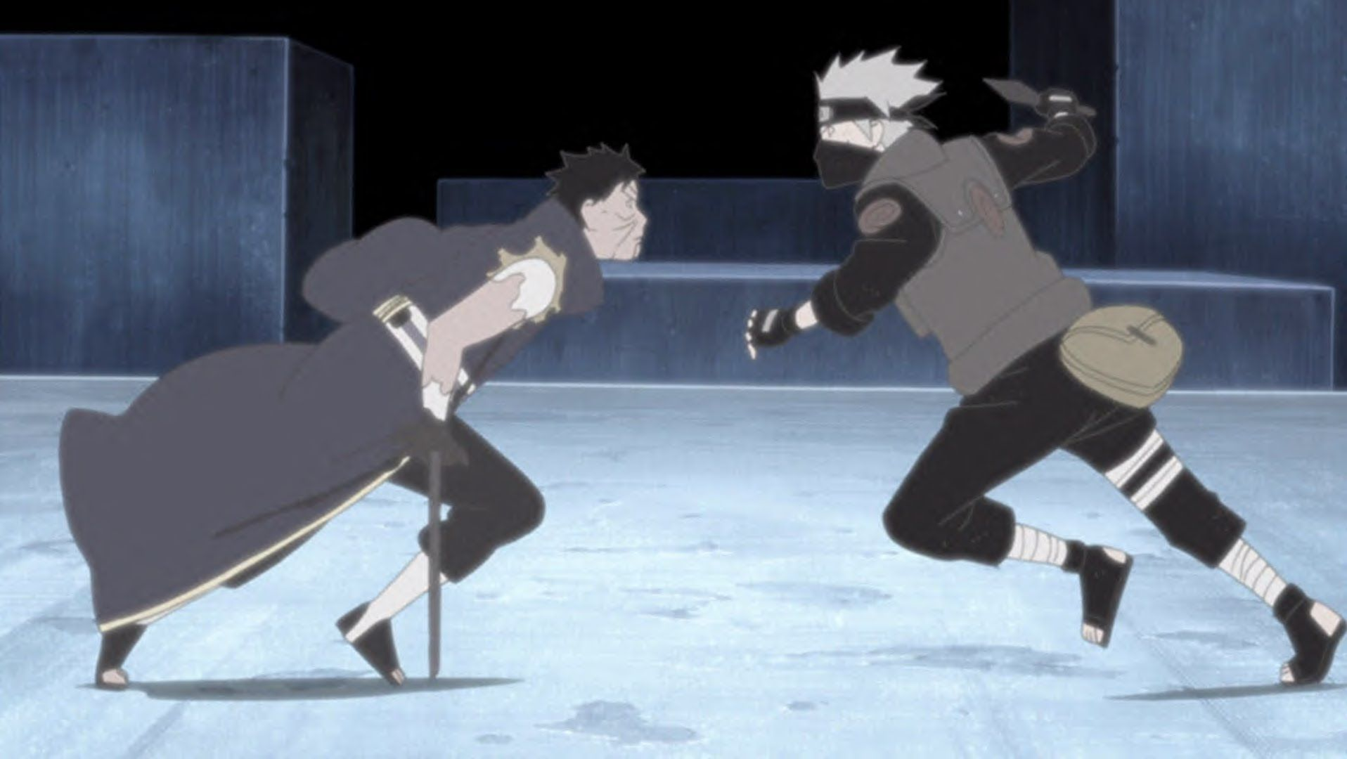 Kakashi fights Obito