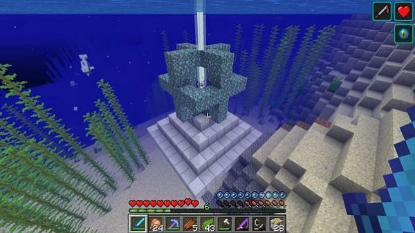 How to use Heart of the Sea in Minecraft
