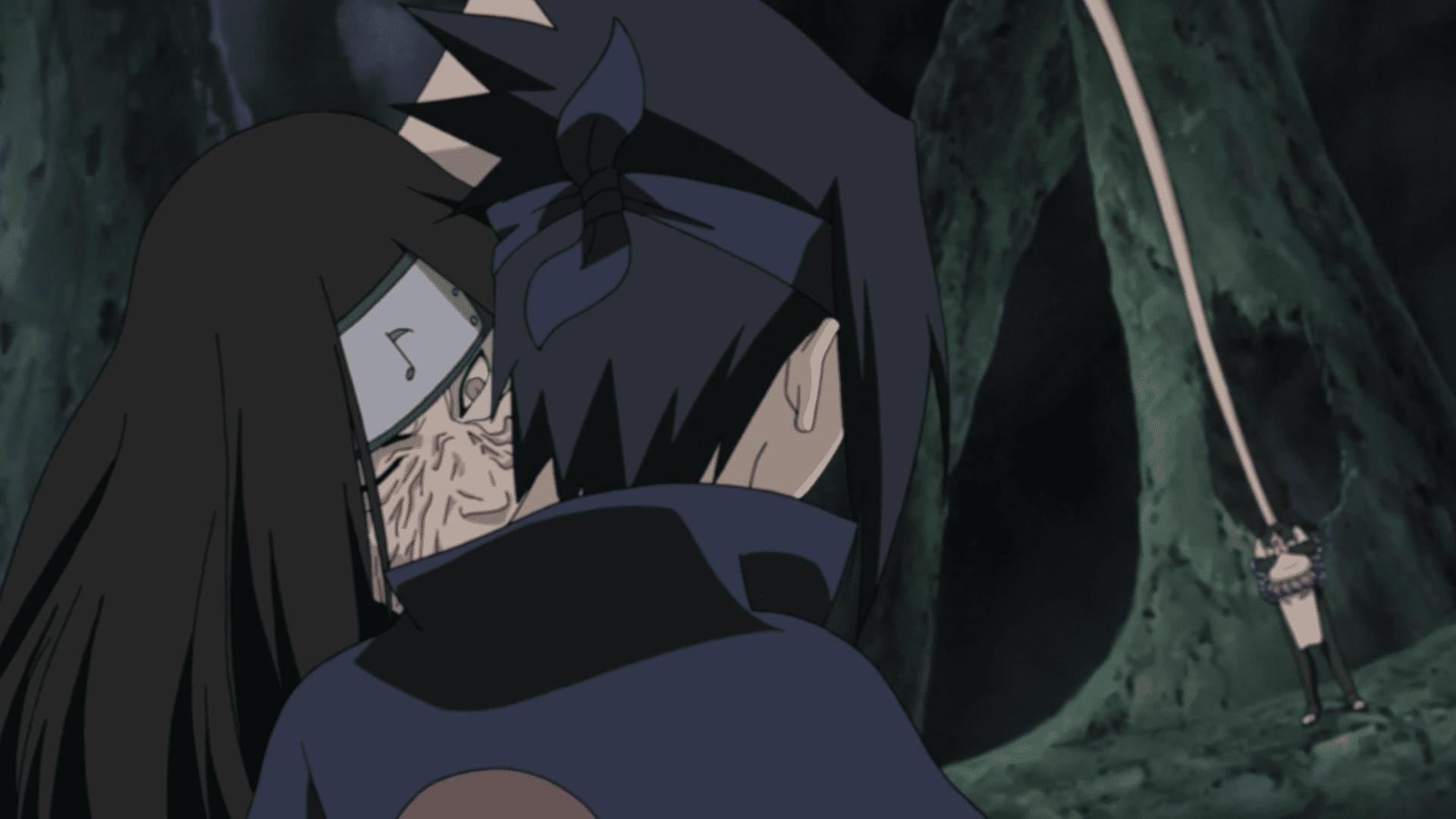 sasuke uchiha orochimaru bite