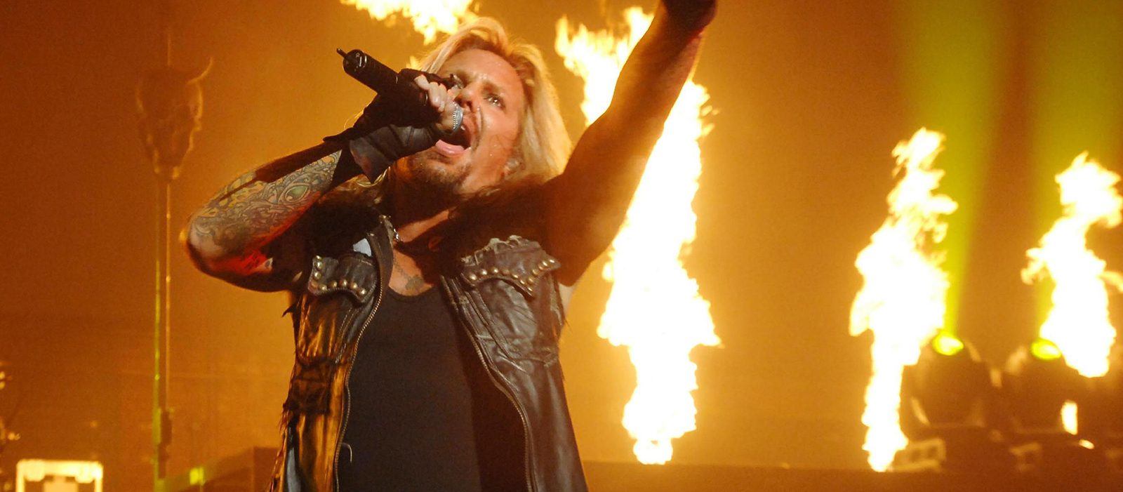 Vince Neil from Motley Crue performing at Hammersmith Apollo London,England