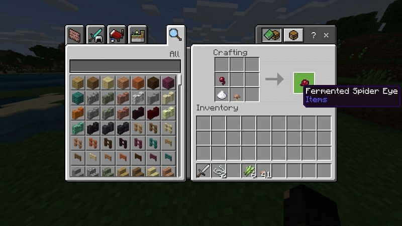 How to make potion of Weakness in Minecraft?