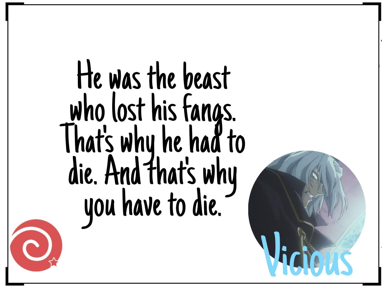 Vicious quotes from Cowboy Bebop