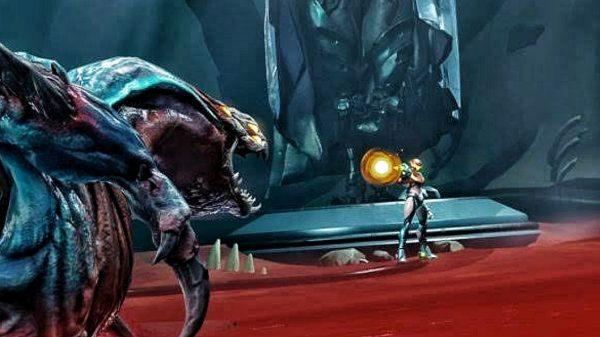 Metroid Dread Golzuna fight