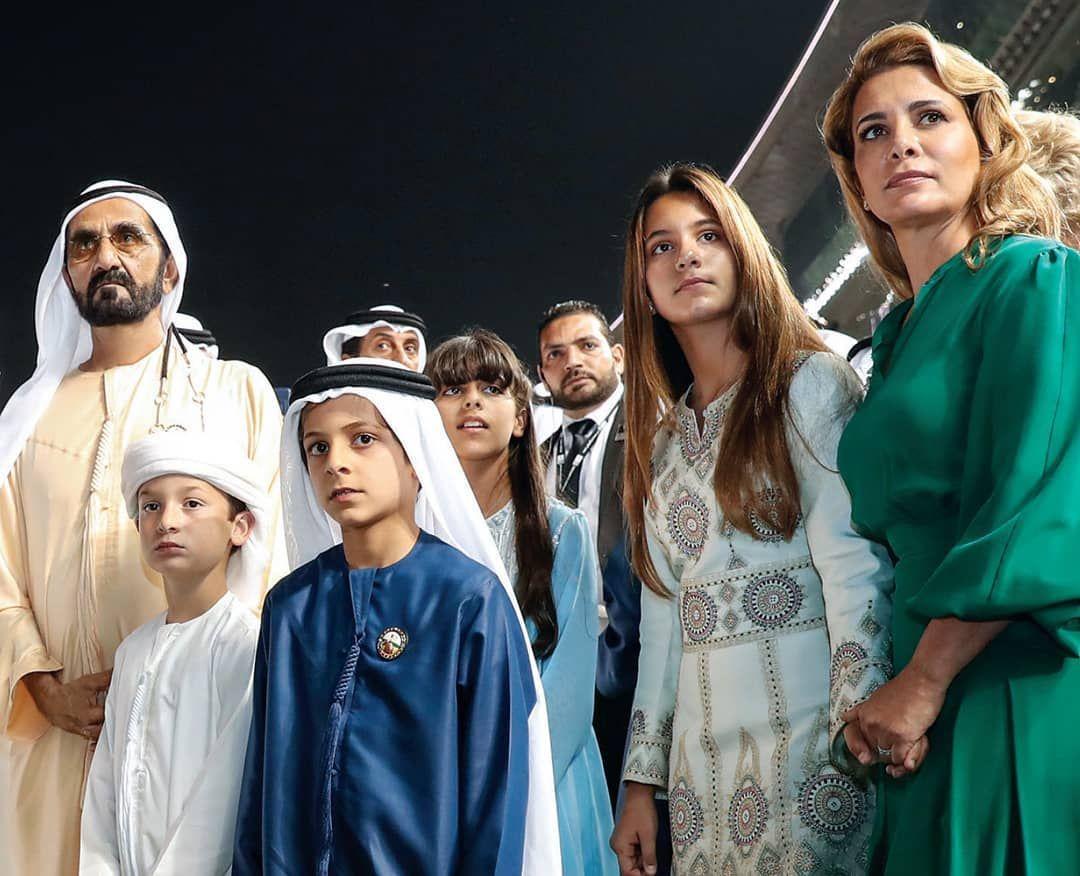 Princess Haya with her family