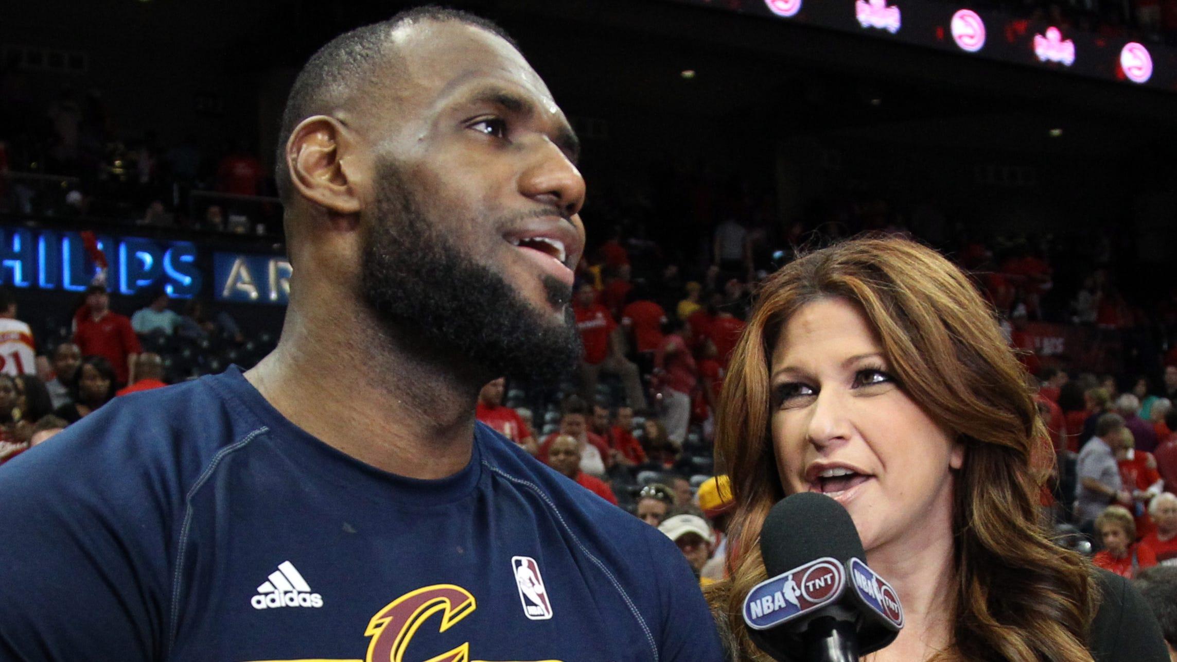 Rachel Nichols with LeBron James
