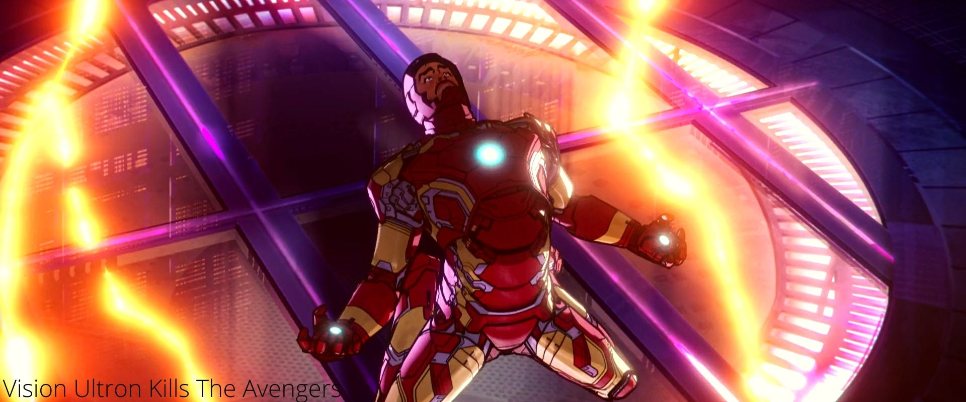 The Avengers vs Vision Ultron