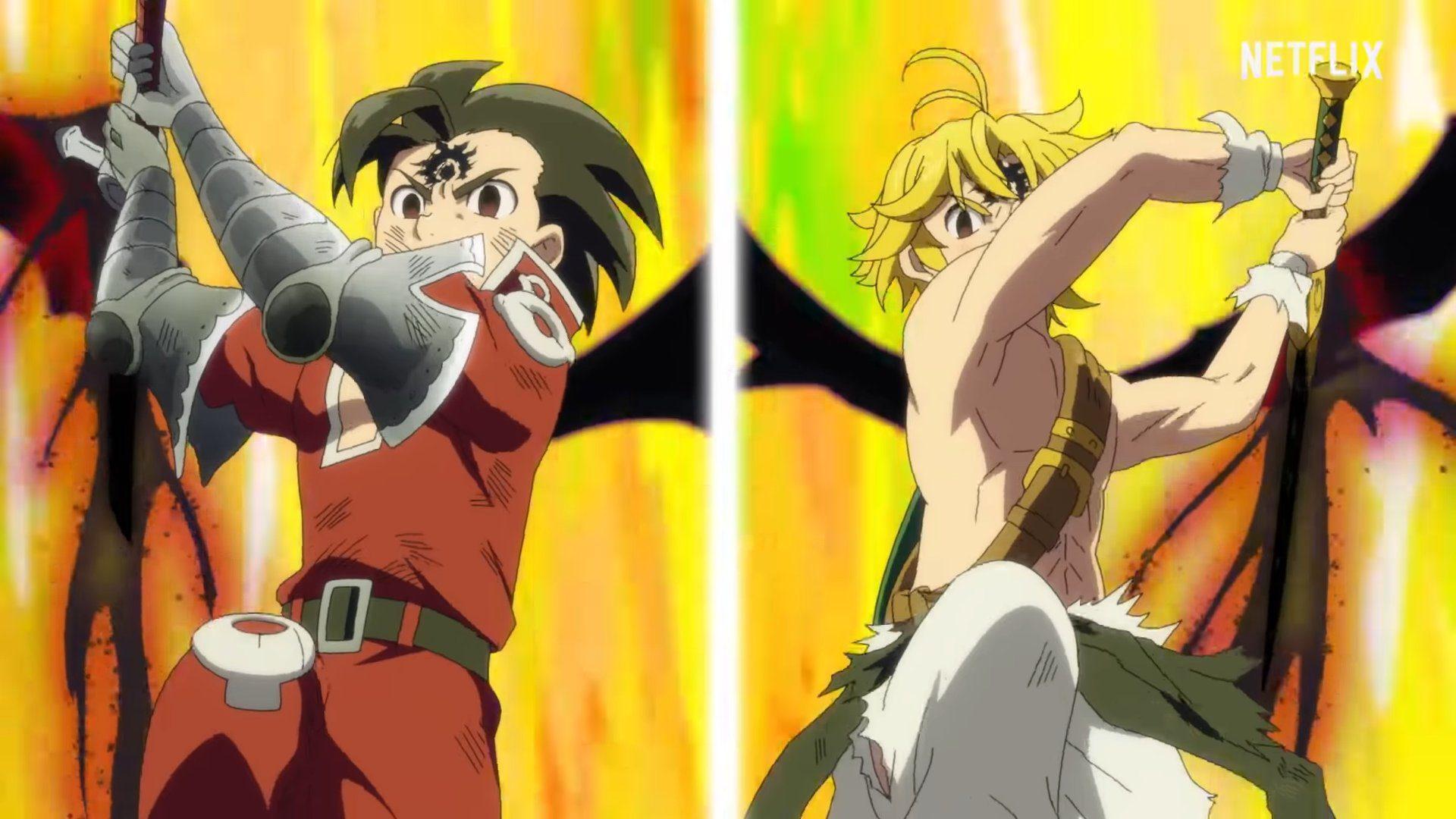 Fights in Nanatsu no Taizai movie