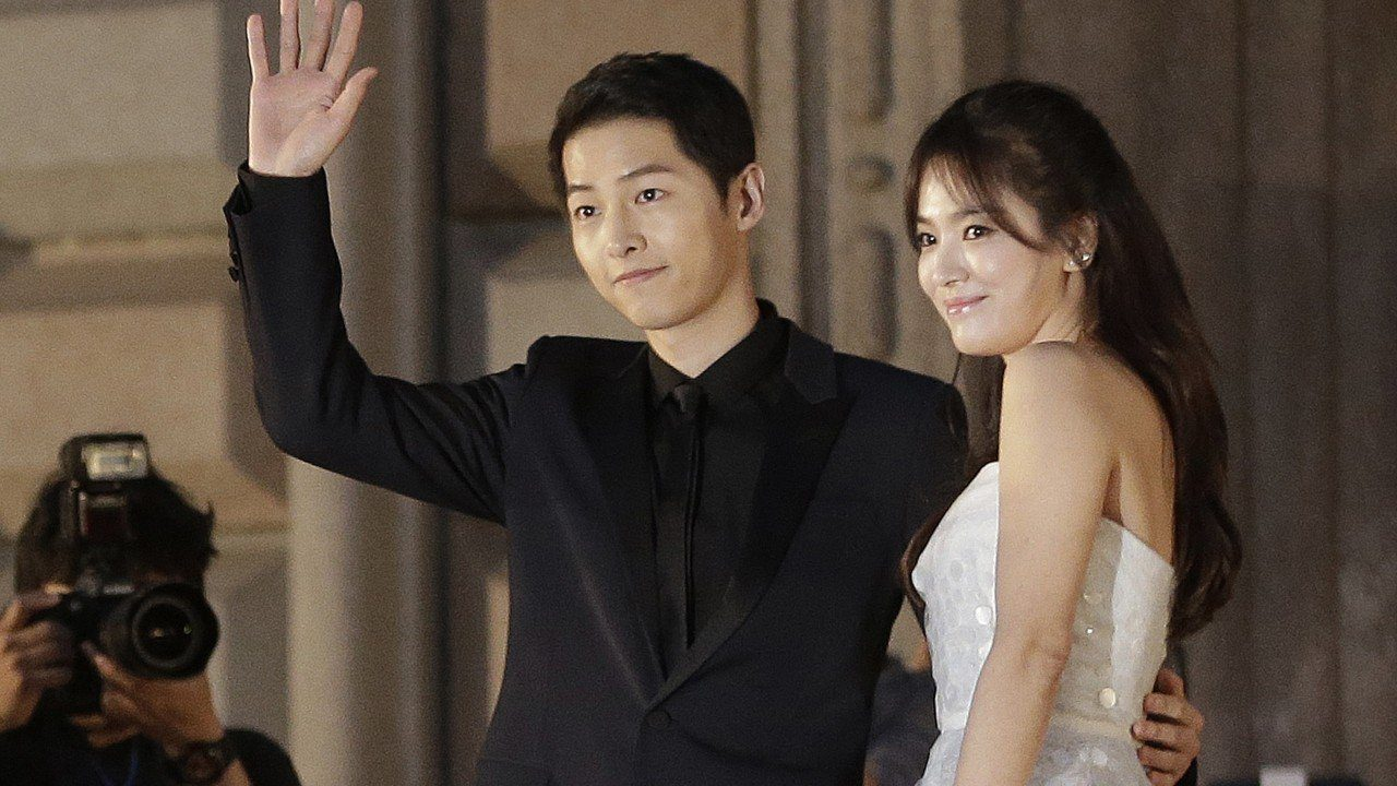 song joong and song hye together in public